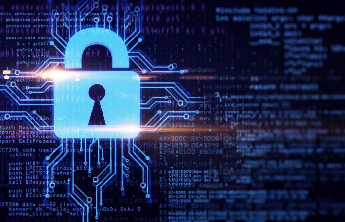 Digital security concept, lock visual