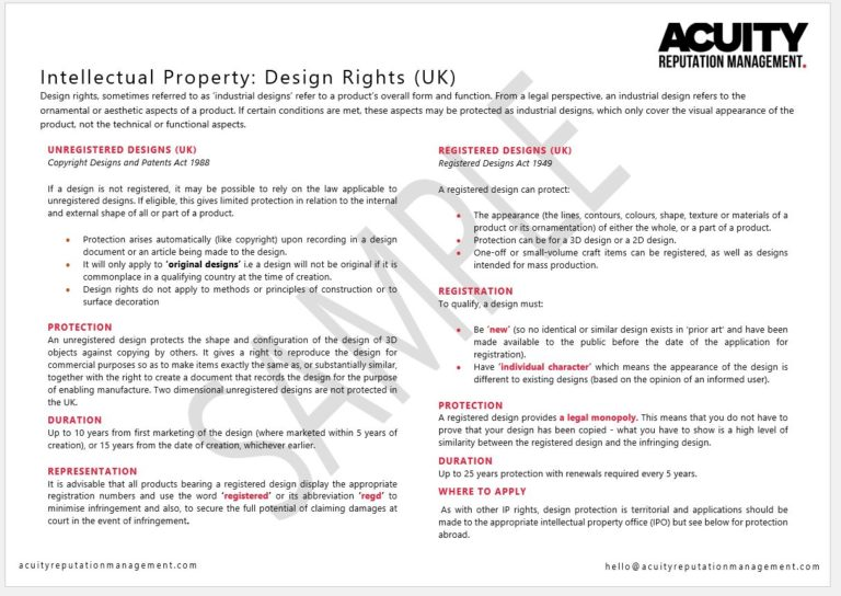 Intellectual Property sample document